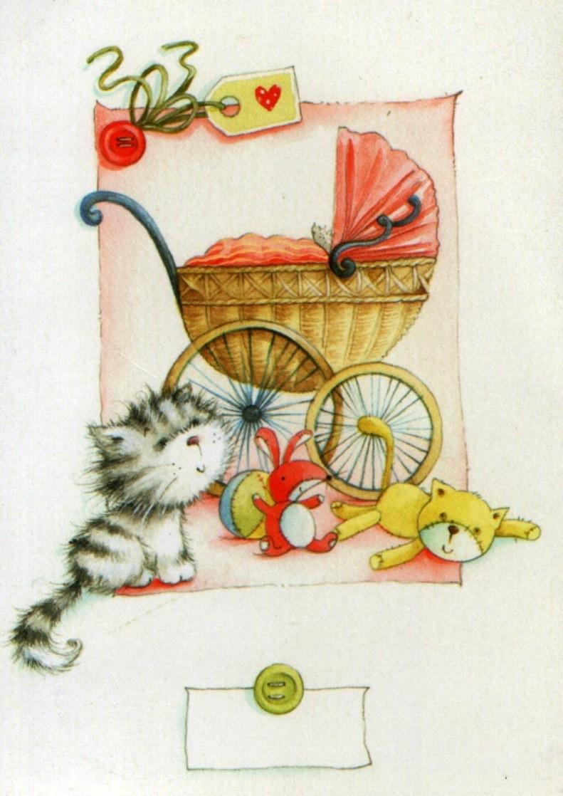 Открытки для детей кот