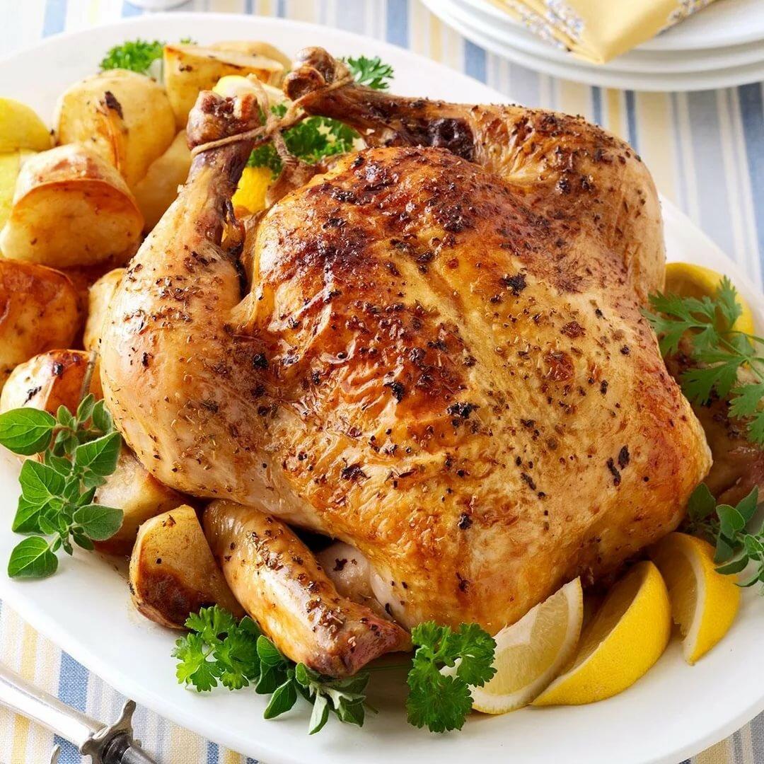 Картинка с жареной курицей