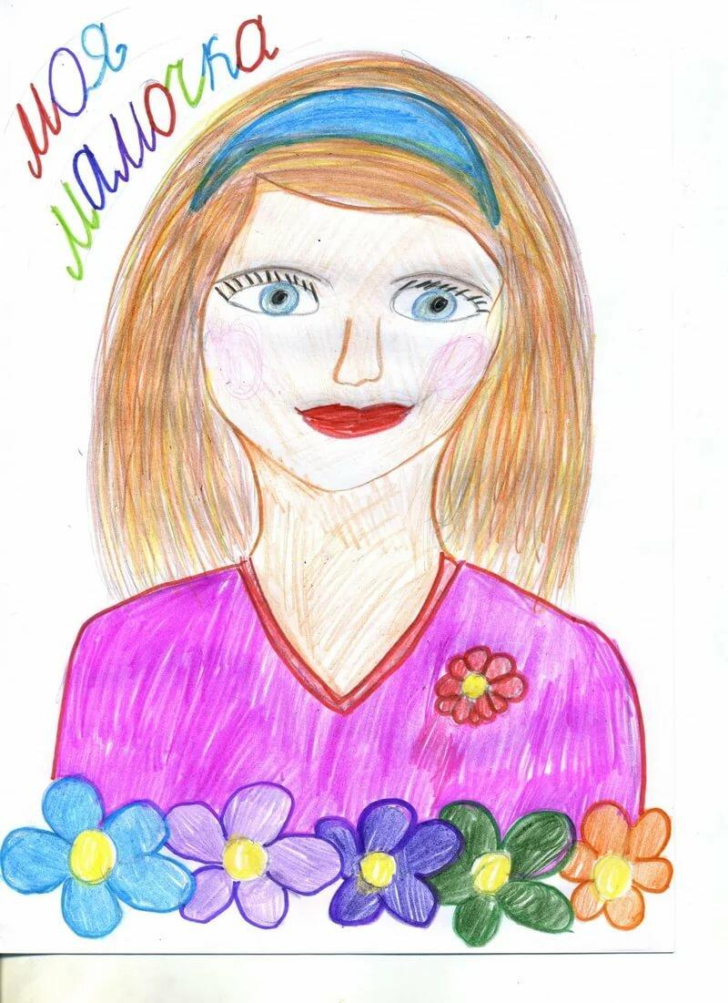 Картинки для рисования мама