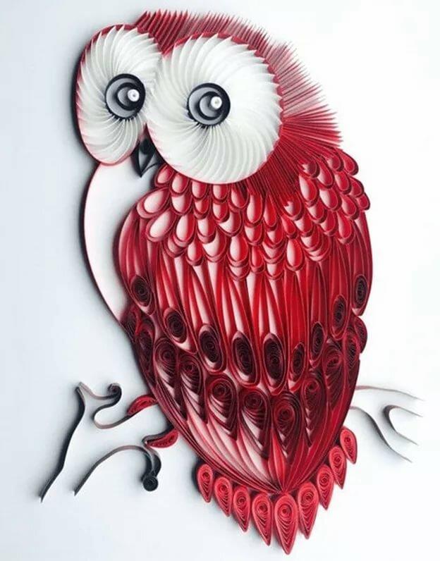 картинки и совы из квиллинга пользуется