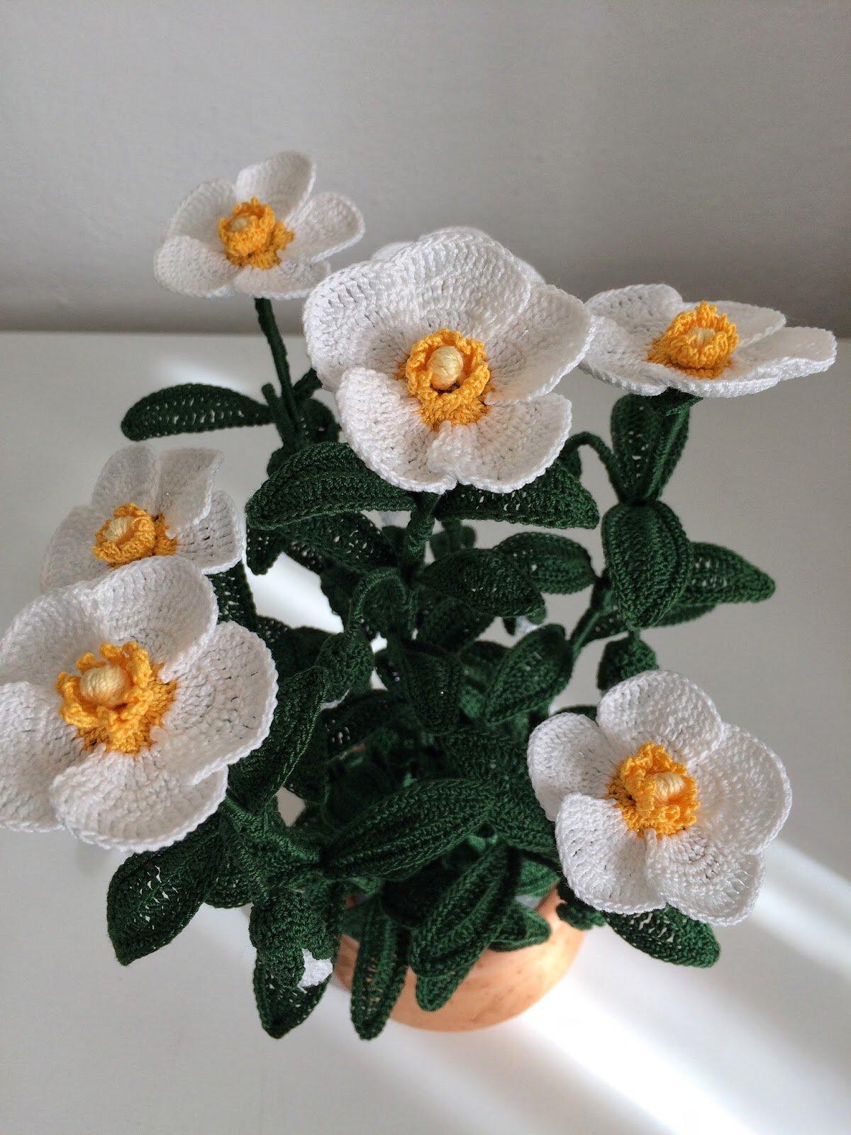 вязание горшечных цветов крючком фото считается одним самых