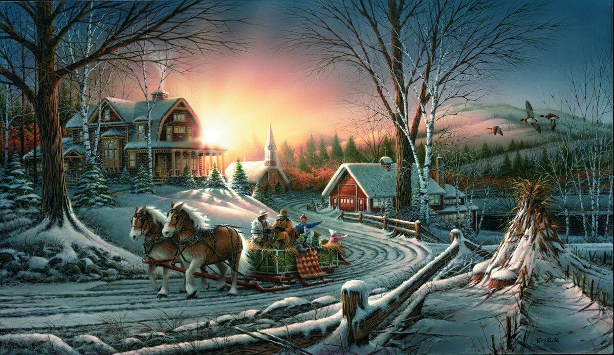 картинки новогодний стол в деревне уже