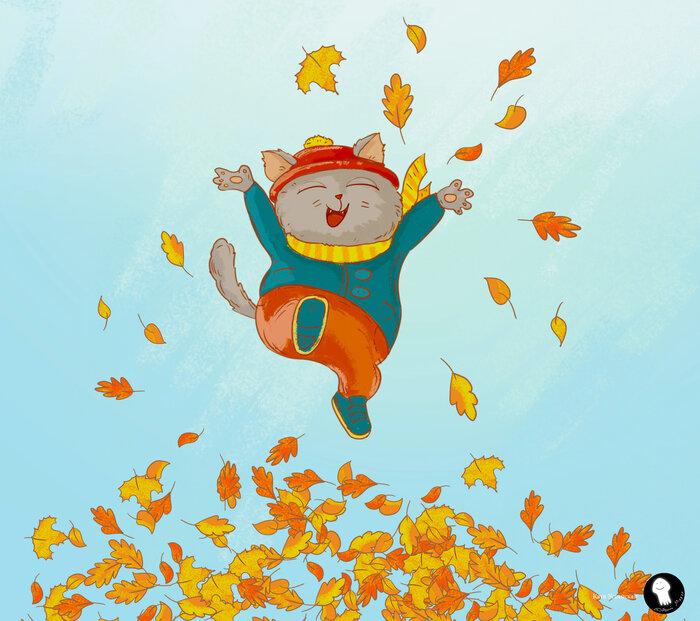 Картинки листопада для детей нарисованные