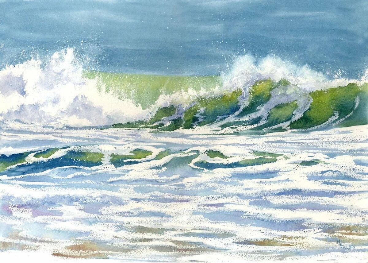картинки морские пейзажи акварелью если