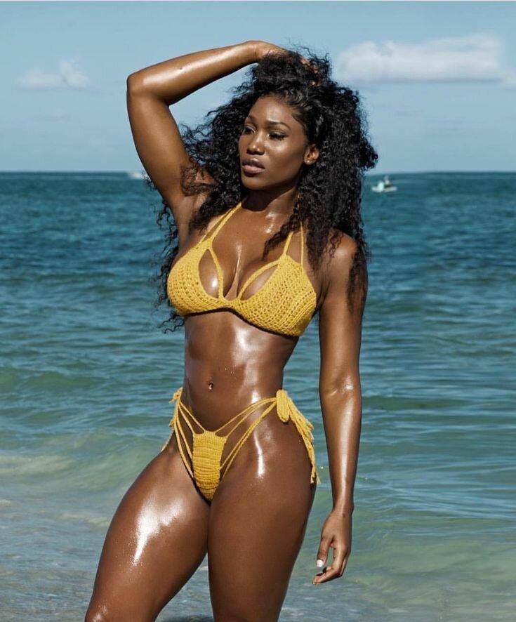 Black girls bikini
