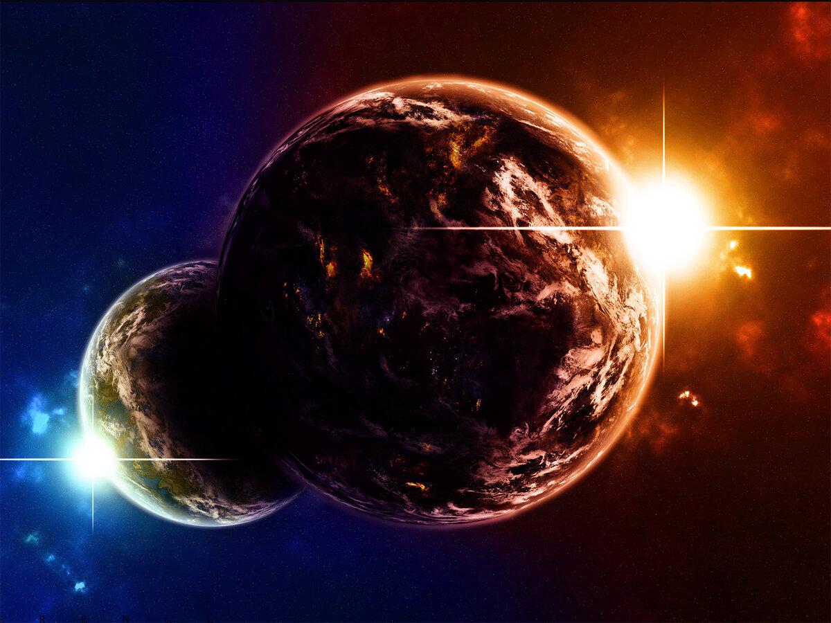 Картинки планет в движении