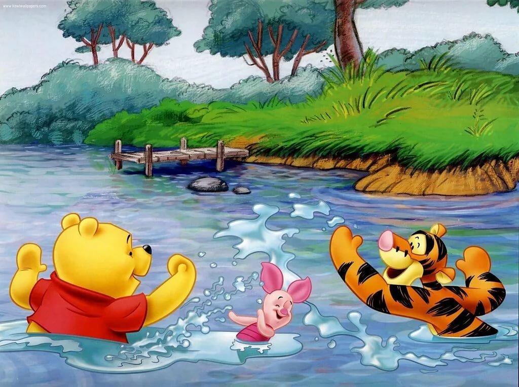 картинки мультяшек в воде
