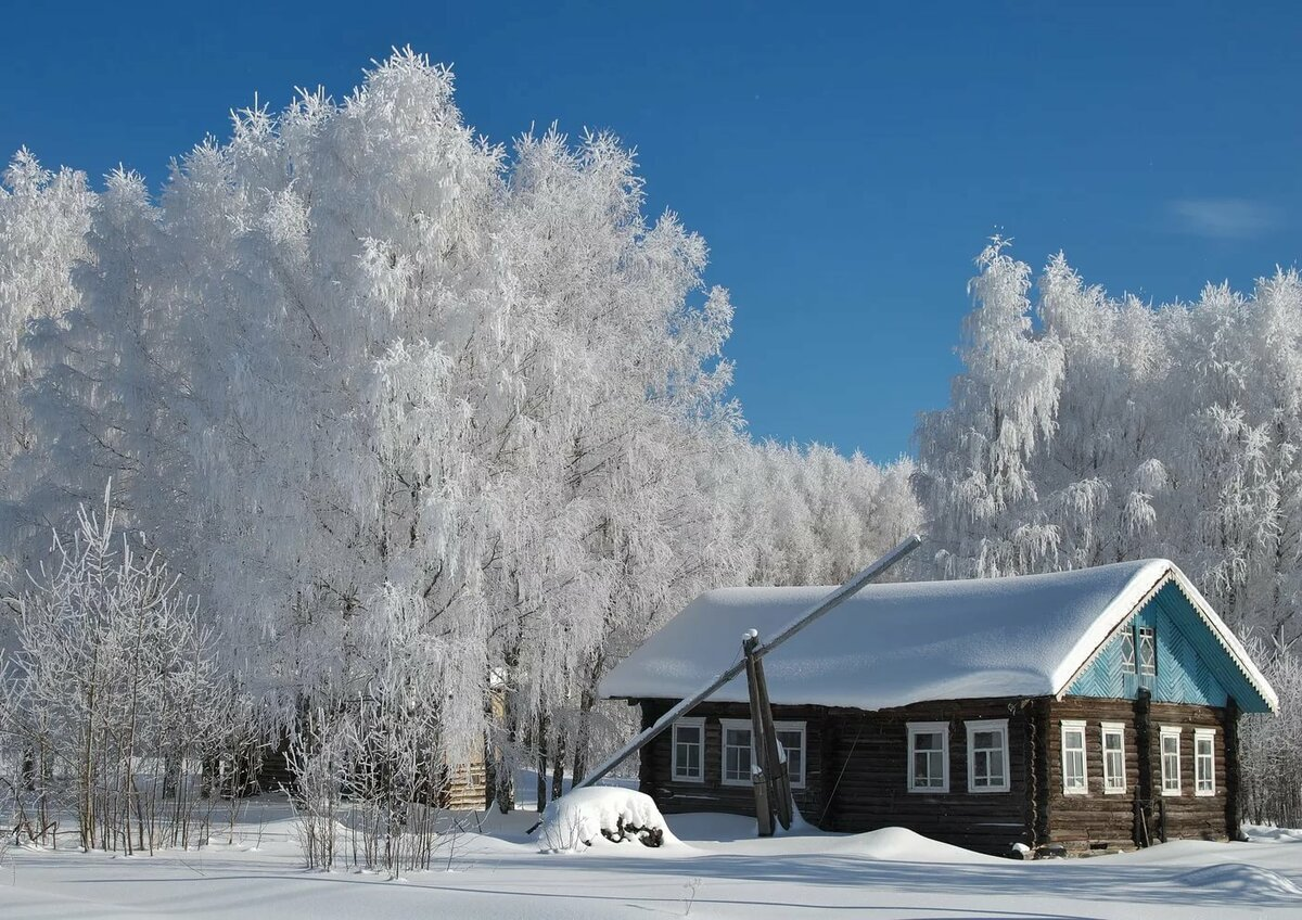 русская зима красивые картинки
