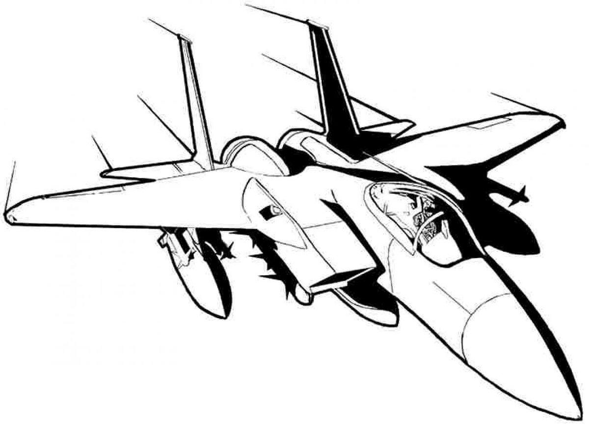 самолет черно белый рисунок так