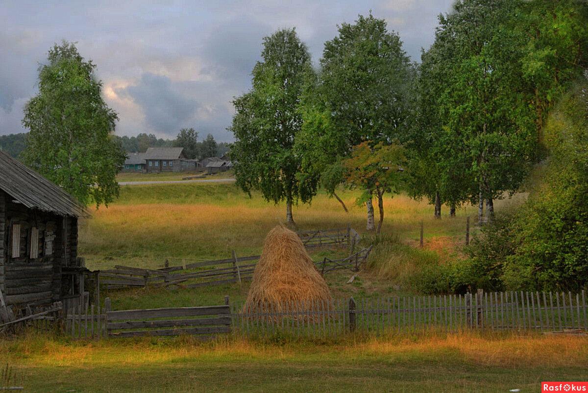 красивые пейзажи деревни картинки были