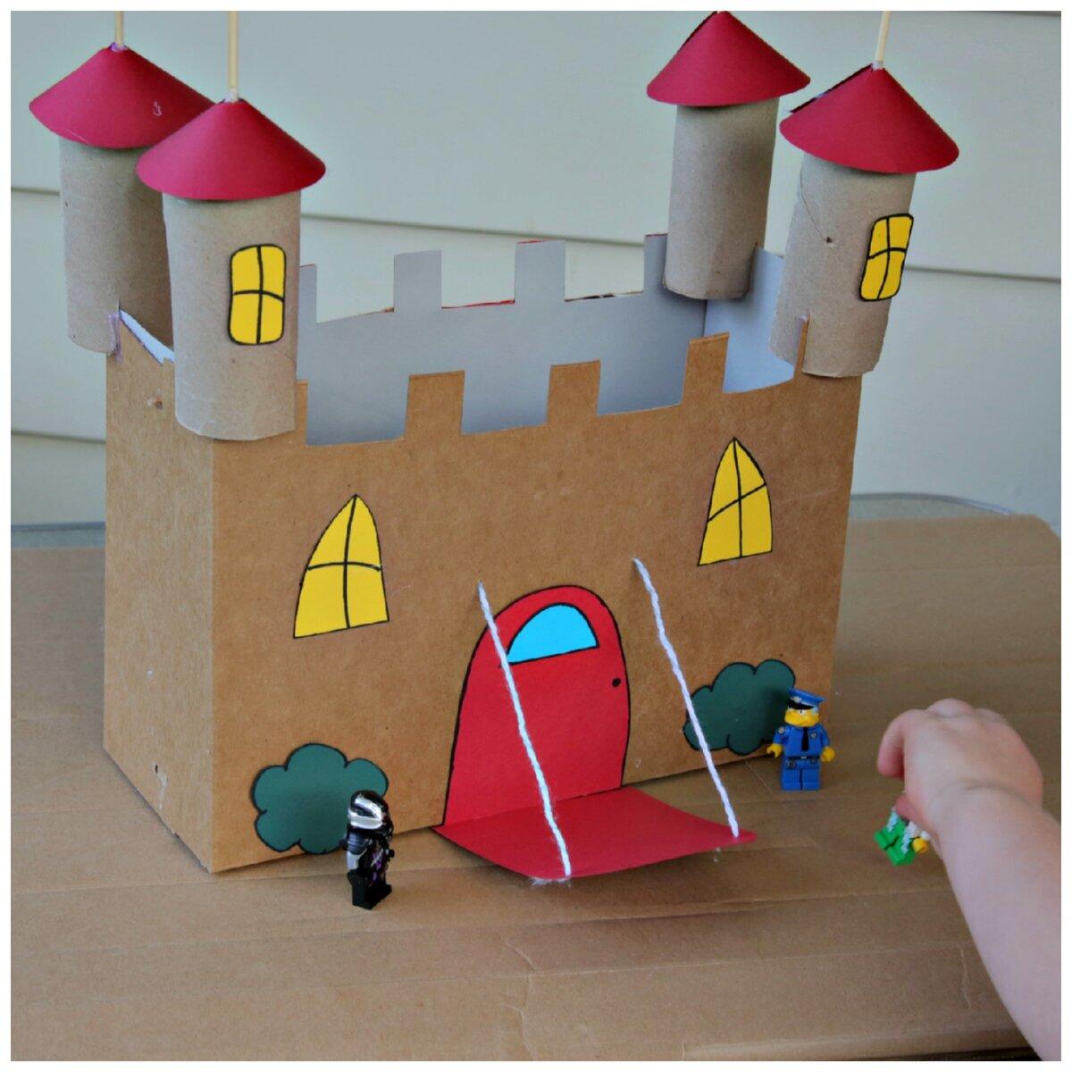 поделка замок из картона своими руками схемы шаблоны наборе спальной