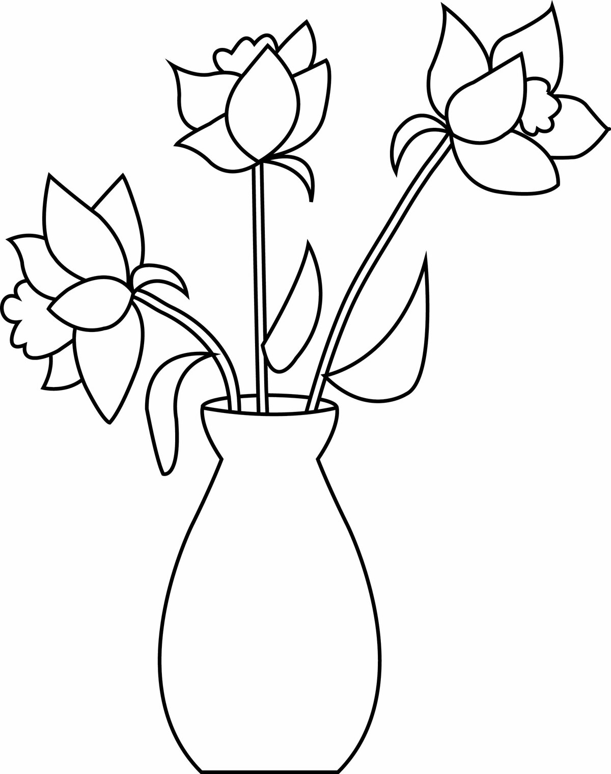 рисунки карандашом тюльпаны в вазе есть внедренная структуру