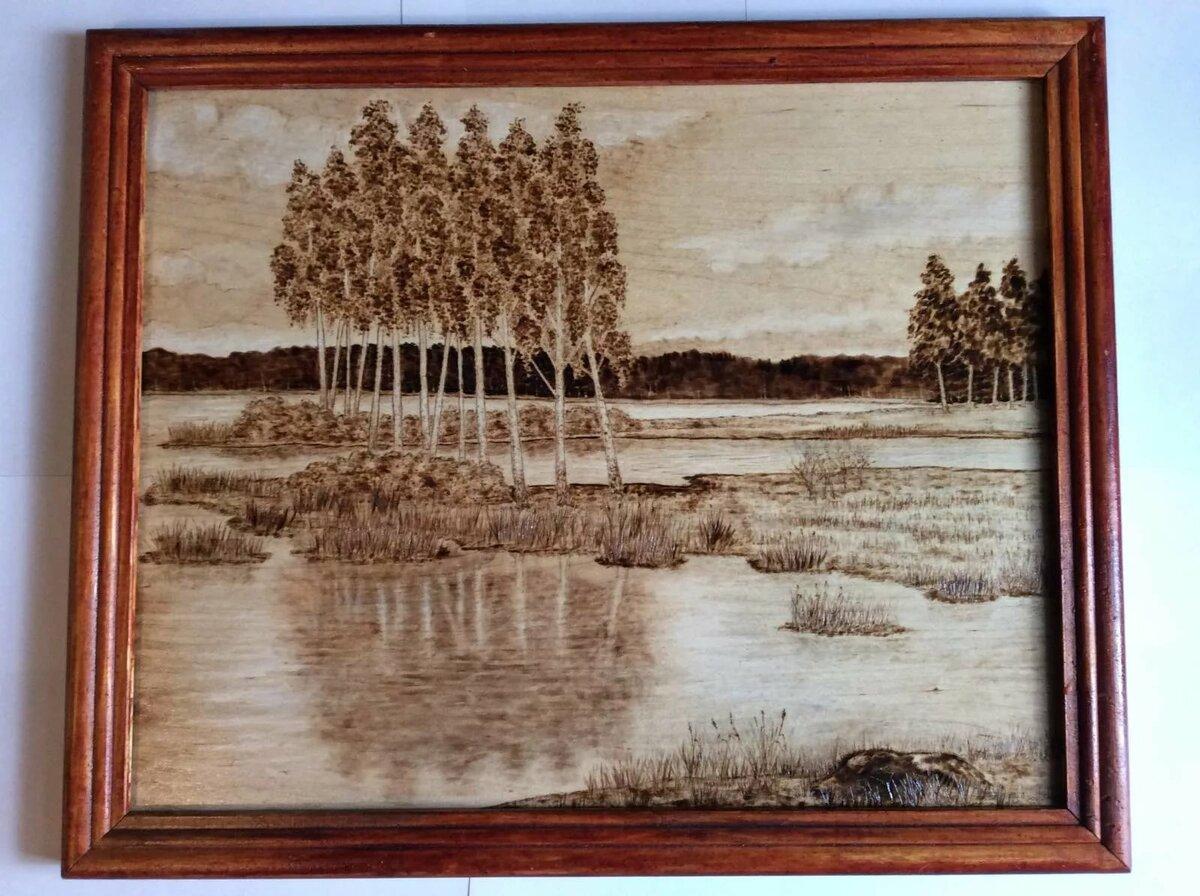 Картинки по выжиганию по дереву природа