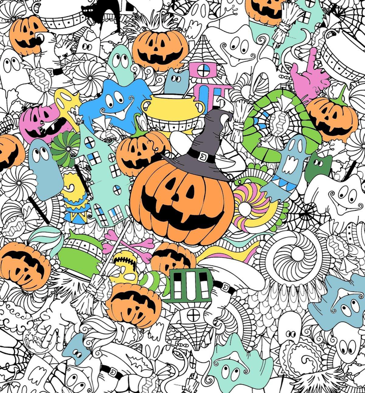 «Раскраска на Хэллоуин распечатать бесплатно на сайте ...