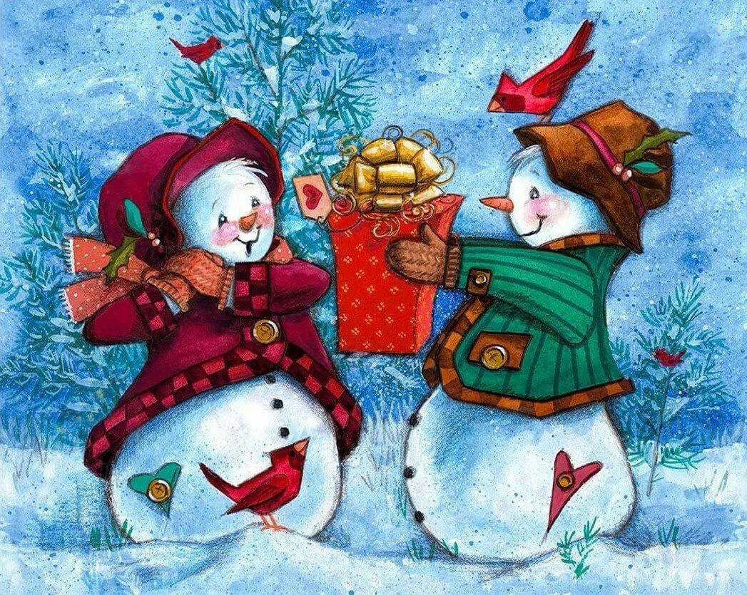 тут новогодние картинки со снеговиками для декупажа панировку, тяжелый
