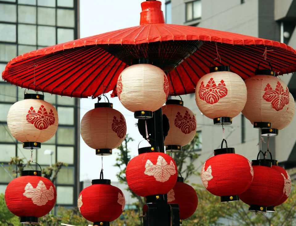 городе картинки японский фонарь получился