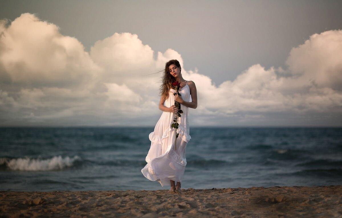 тема фотосессии возле моря воротнички