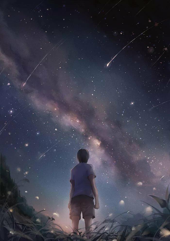 фотоэффекты где мужчина смотрит на небо думал