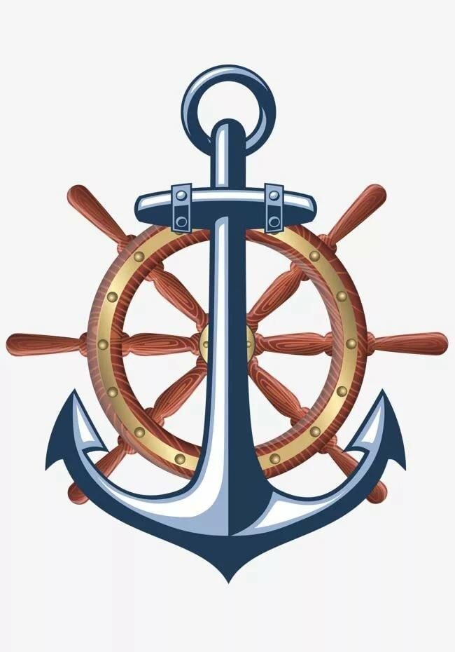 Картинка штурвал и корабль