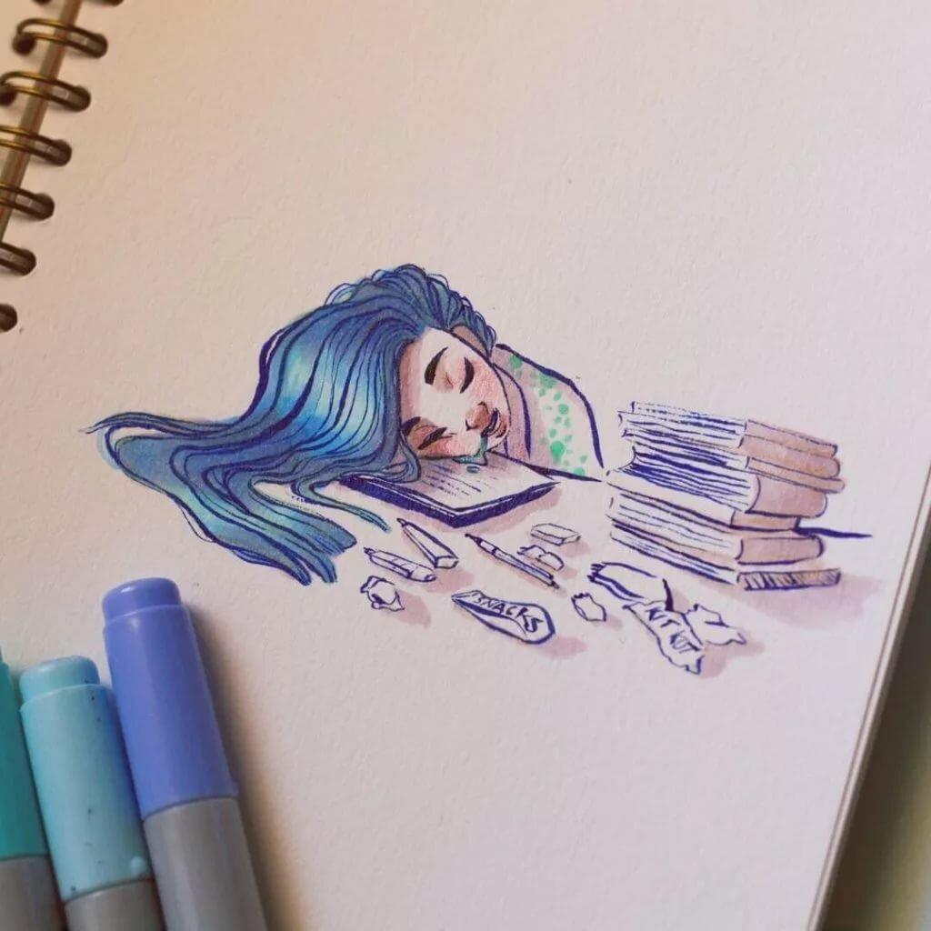 Красивые рисунки для срисовки легкие и крутые маркерами