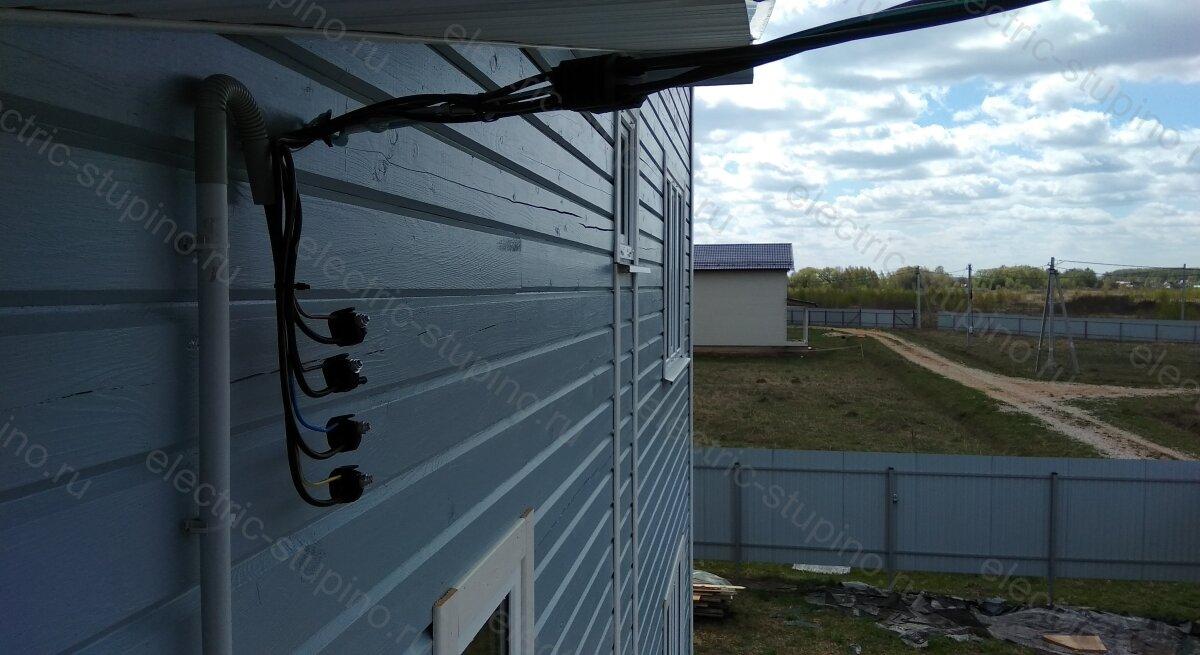 Монтаж вводного кабеля для частного дома в СНТ
