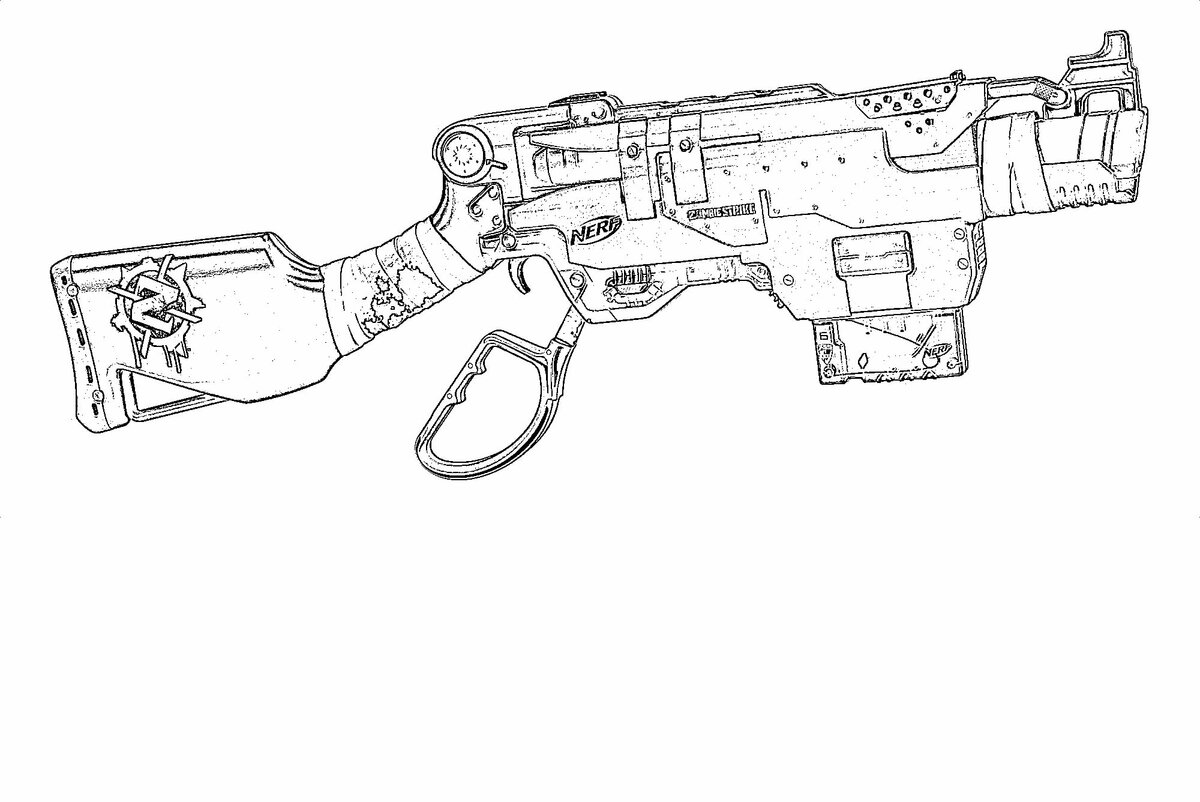 Раскраска с оружием