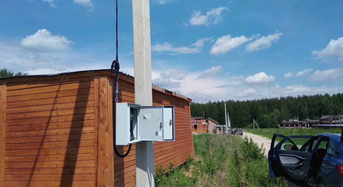 Установка электрощита 15 кВт для участка