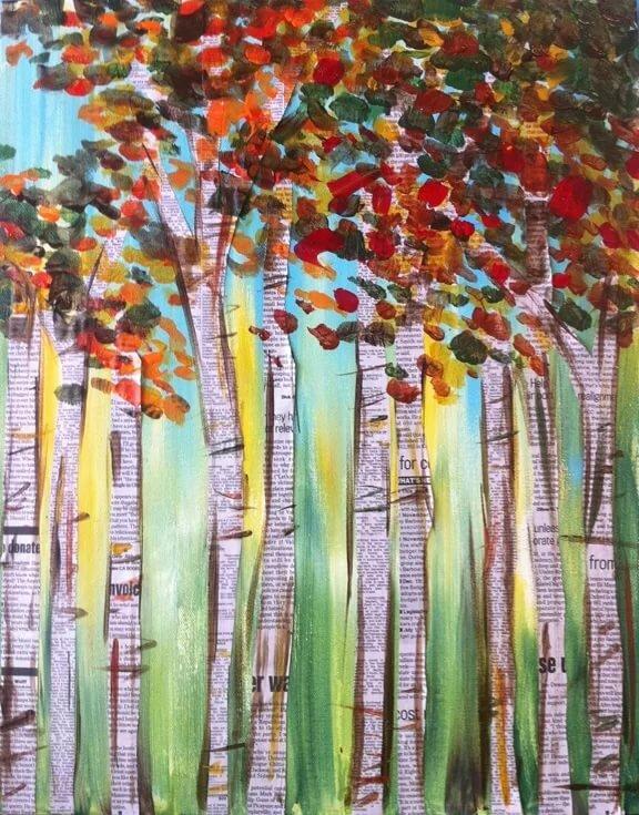 Картинки осень из бумаги