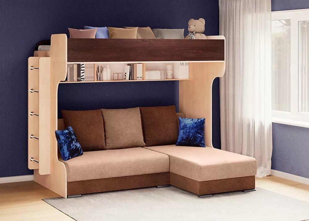 Двухъярусные кровати с диваном в картинках