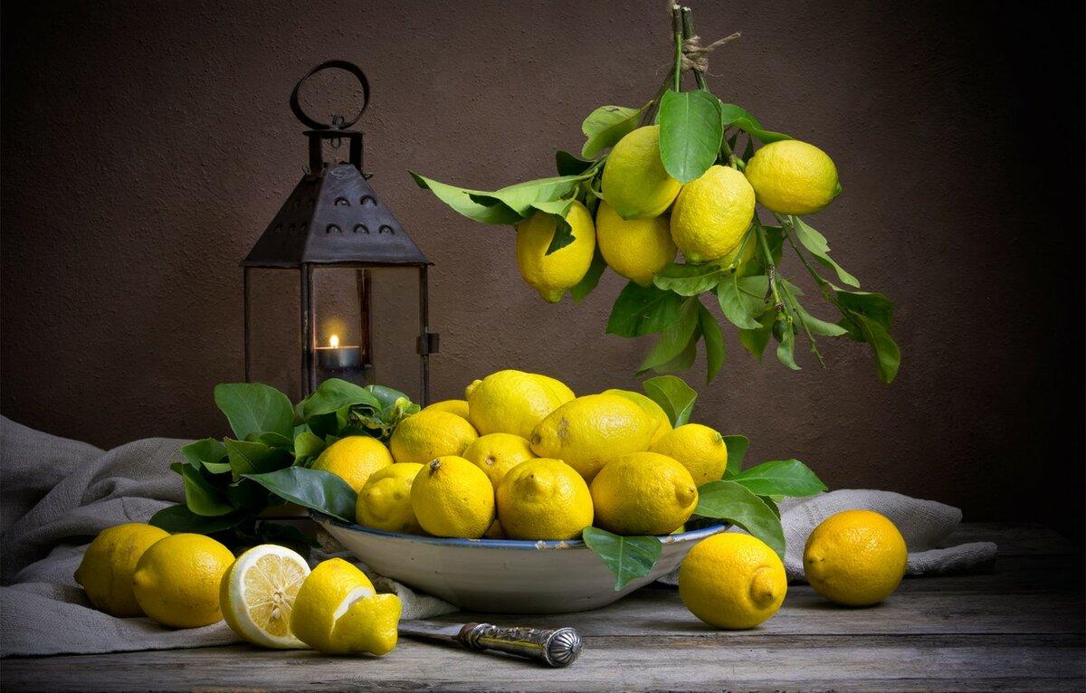 Картинки лимонов и цветов