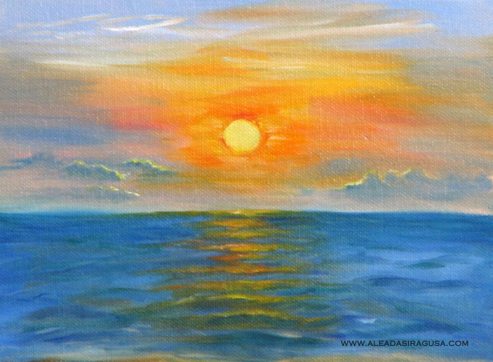 Восход солнца картинки нарисованные