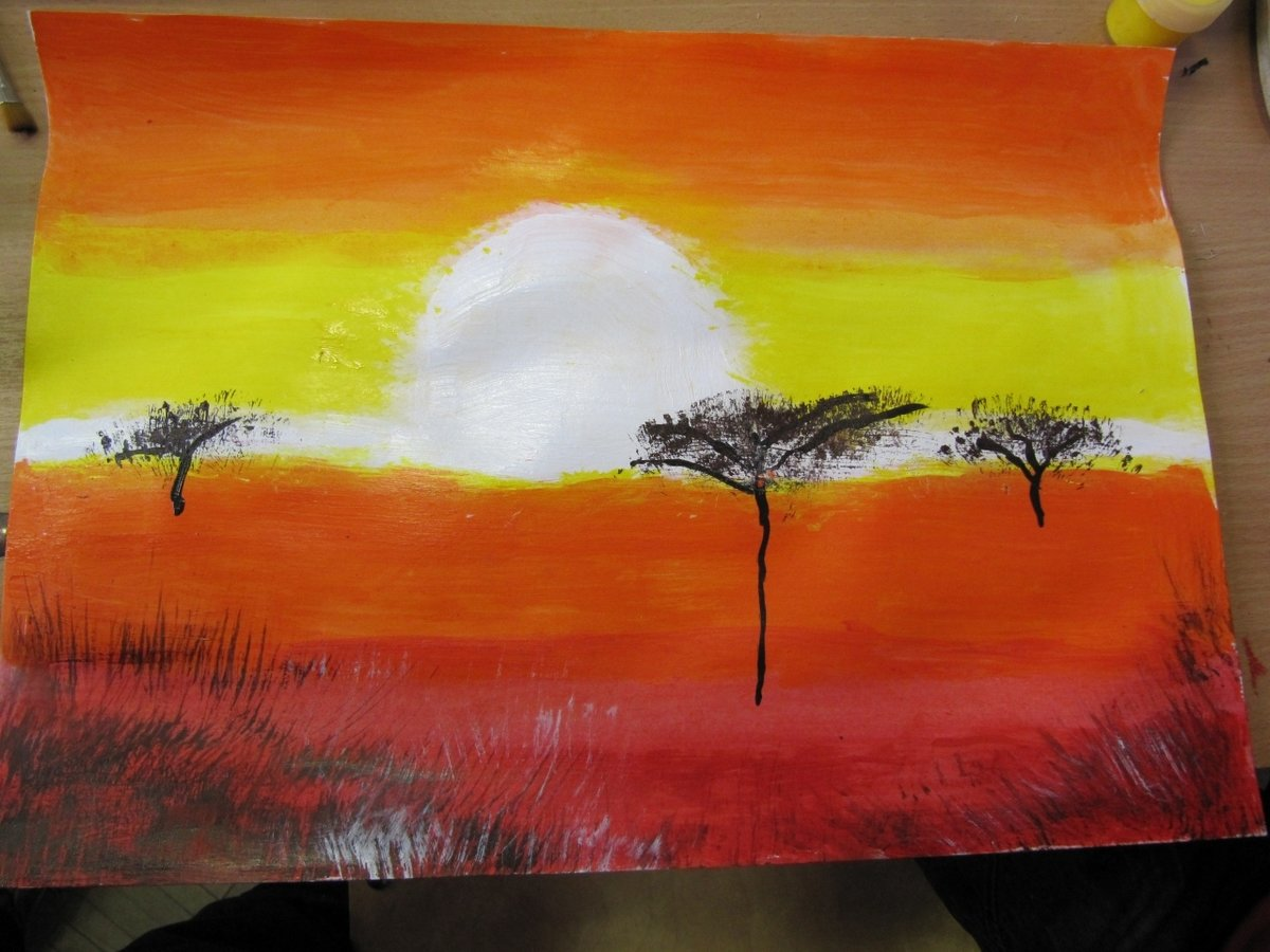 Рисовать красками поэтапно картинки легкие