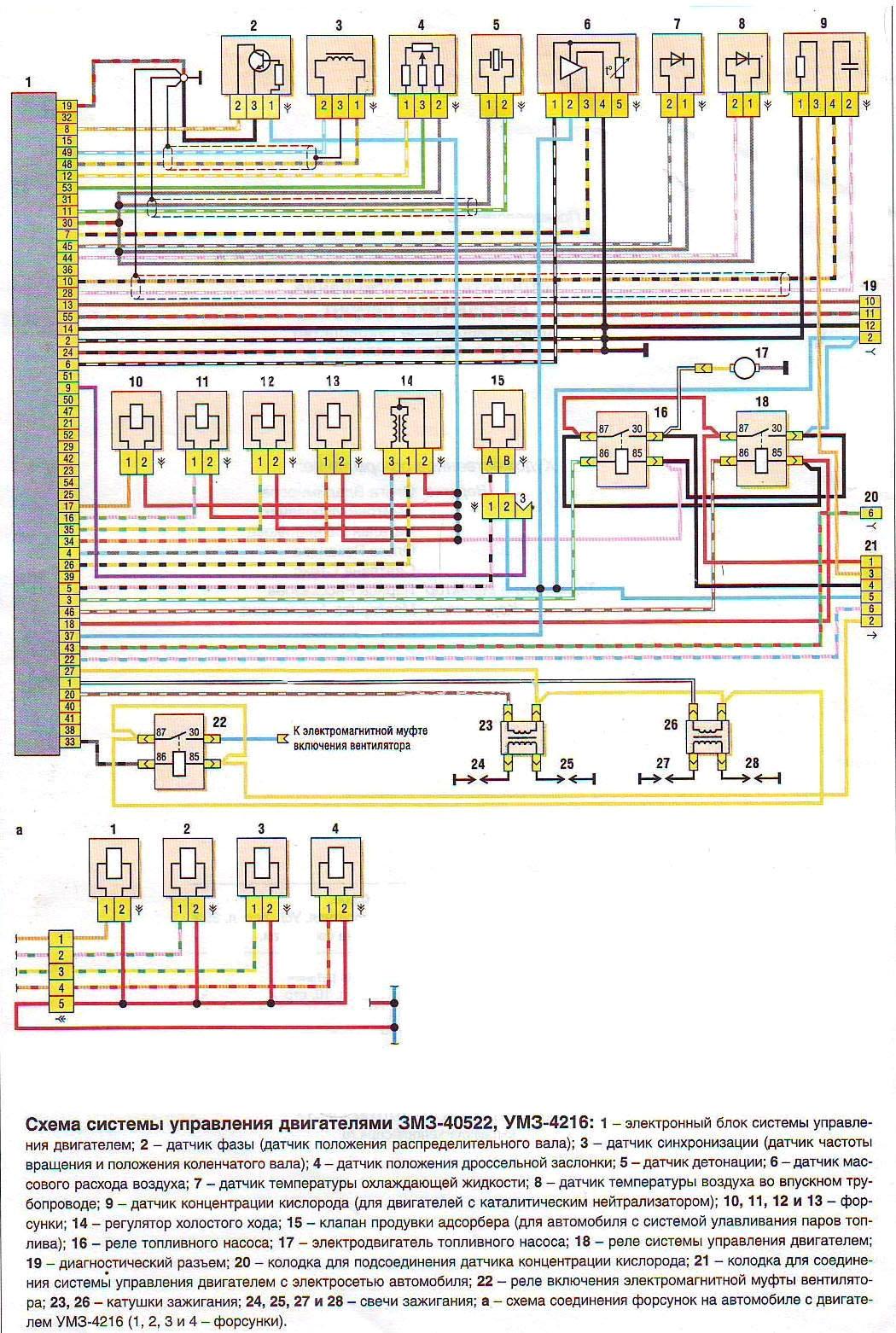 Схема управление двигателем 406 фото 502