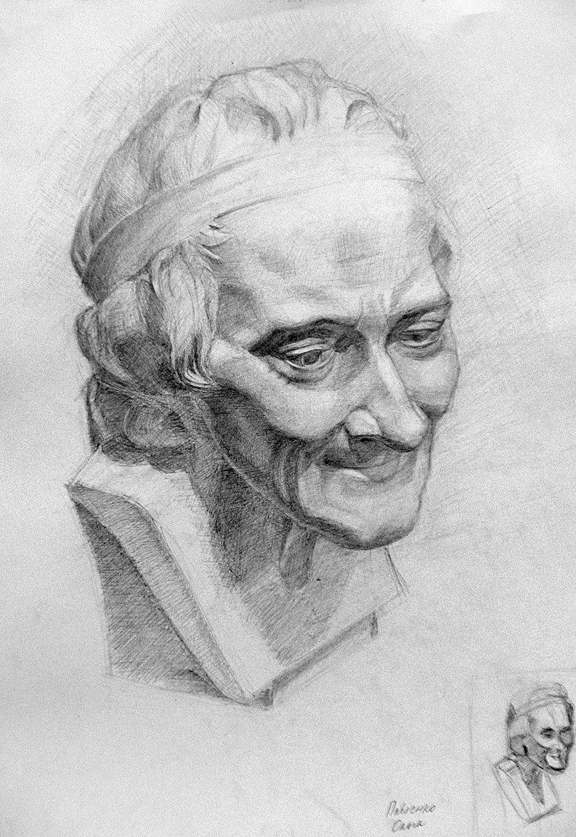 картинки рисунка головы карандашом тем как сделать