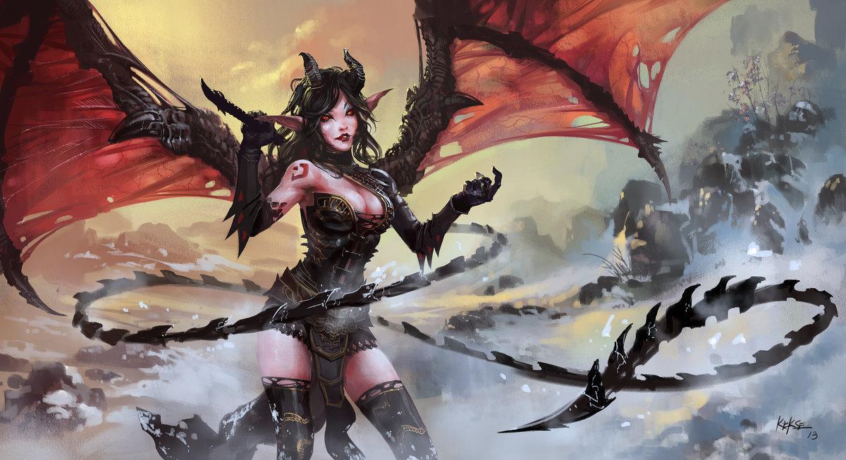Надписями, картинки демоны девушки