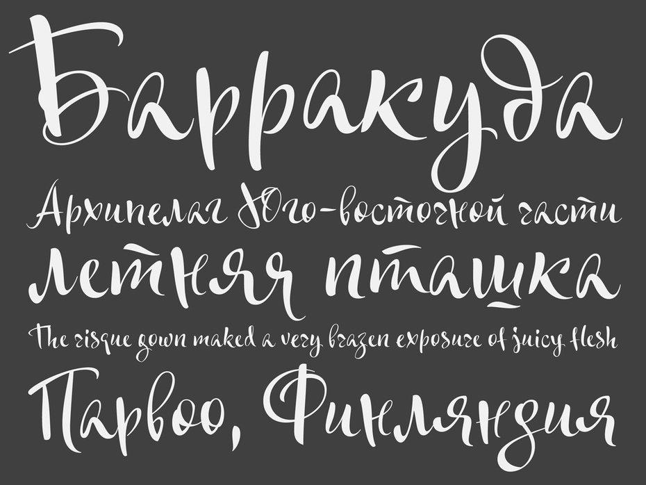 каллиграфический шрифт кириллица влагалища