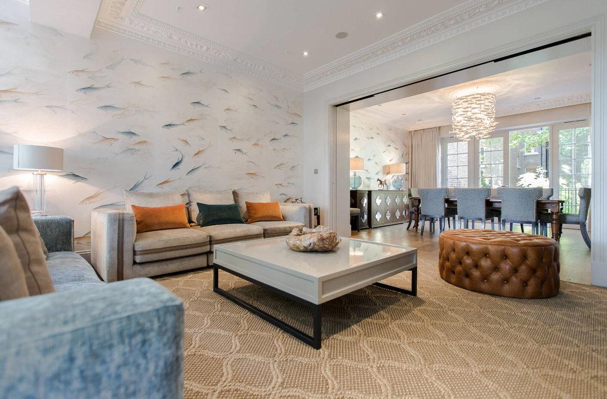 Современные тенденции обои зала в квартире фото