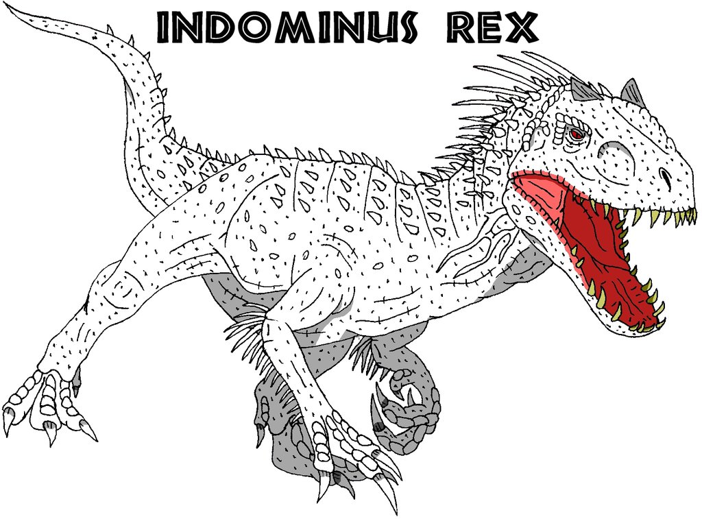 indominus rex coloring pages Indominus Rex Coloring Pages Print Out Pictures to Pin on Pi  indominus rex coloring pages