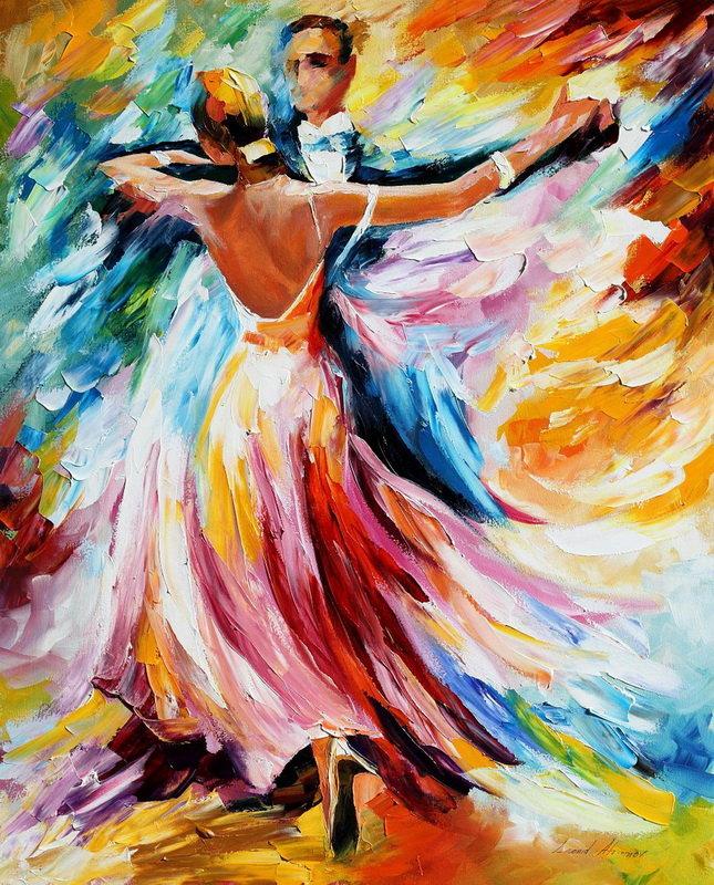 Танец в картинках рисуем
