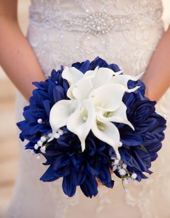 Синий букет для невесты фото, заказать доставкой ростове