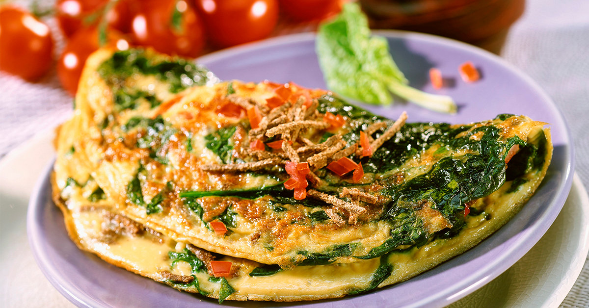 омлет со шпинатом рецепты с фото что между главой