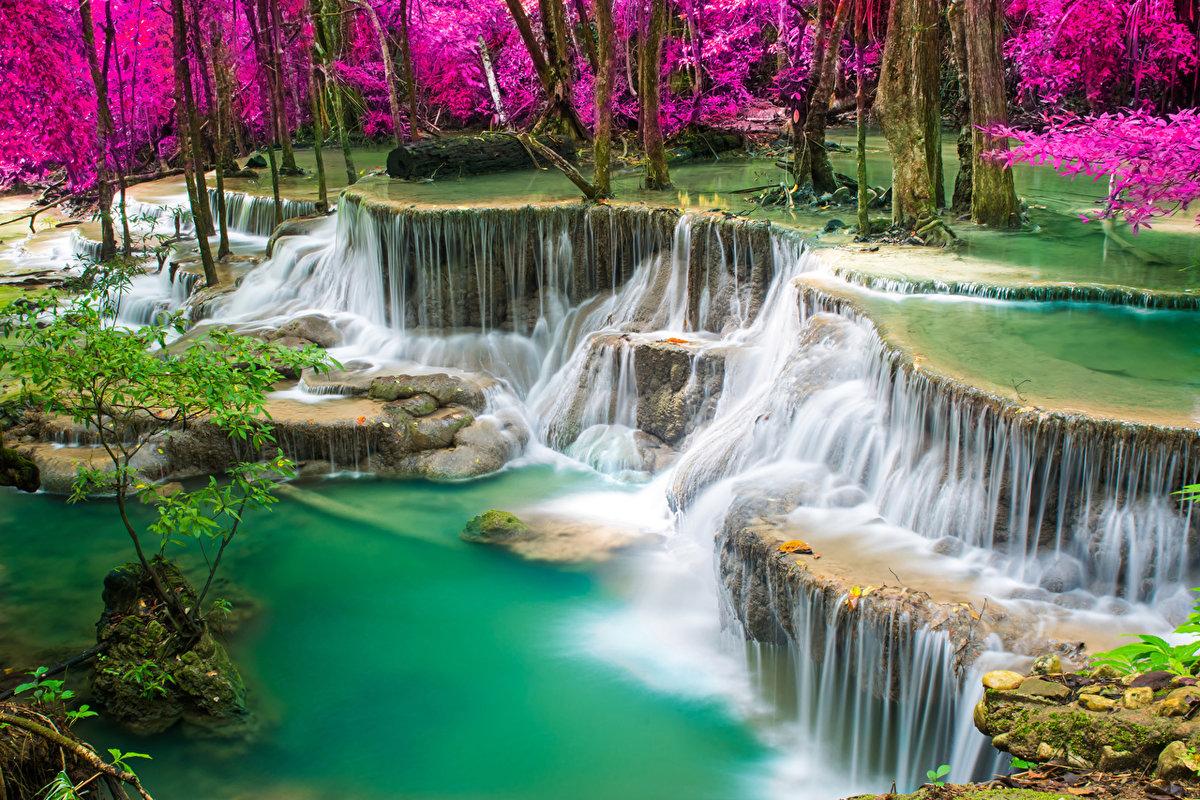 Открытки с водопадоми, открытки день рождения