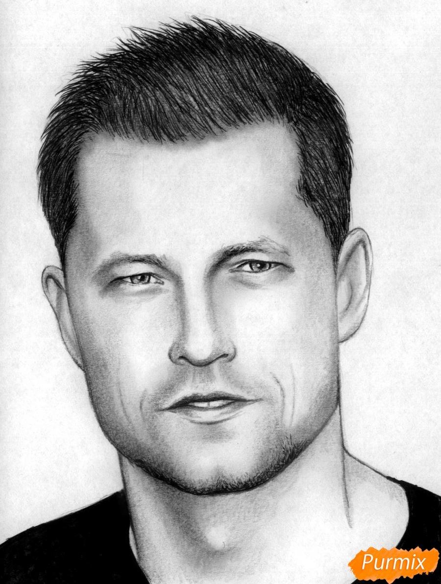 Картинка рисованного мужского лица