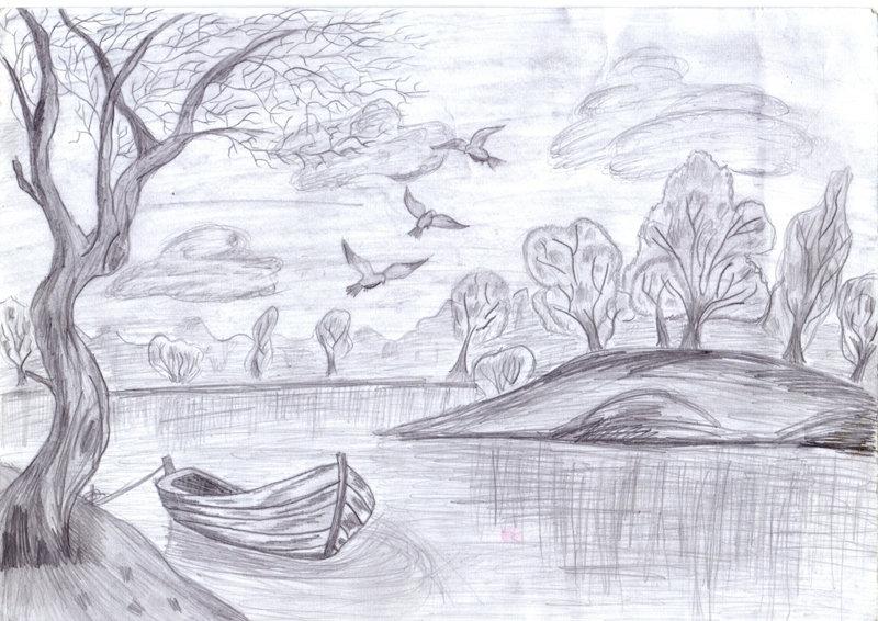 мосты, рисунки карандашом легкие и красивые пейзажи рыбинец