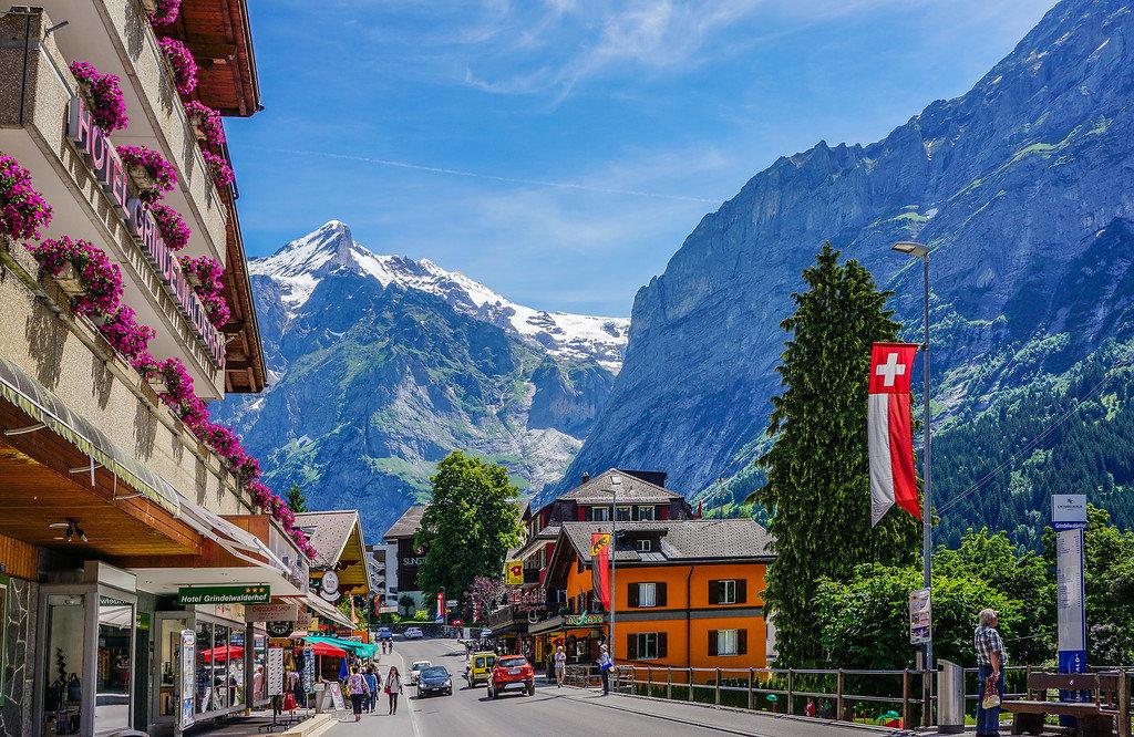 Швейцарские картинки, открытки для