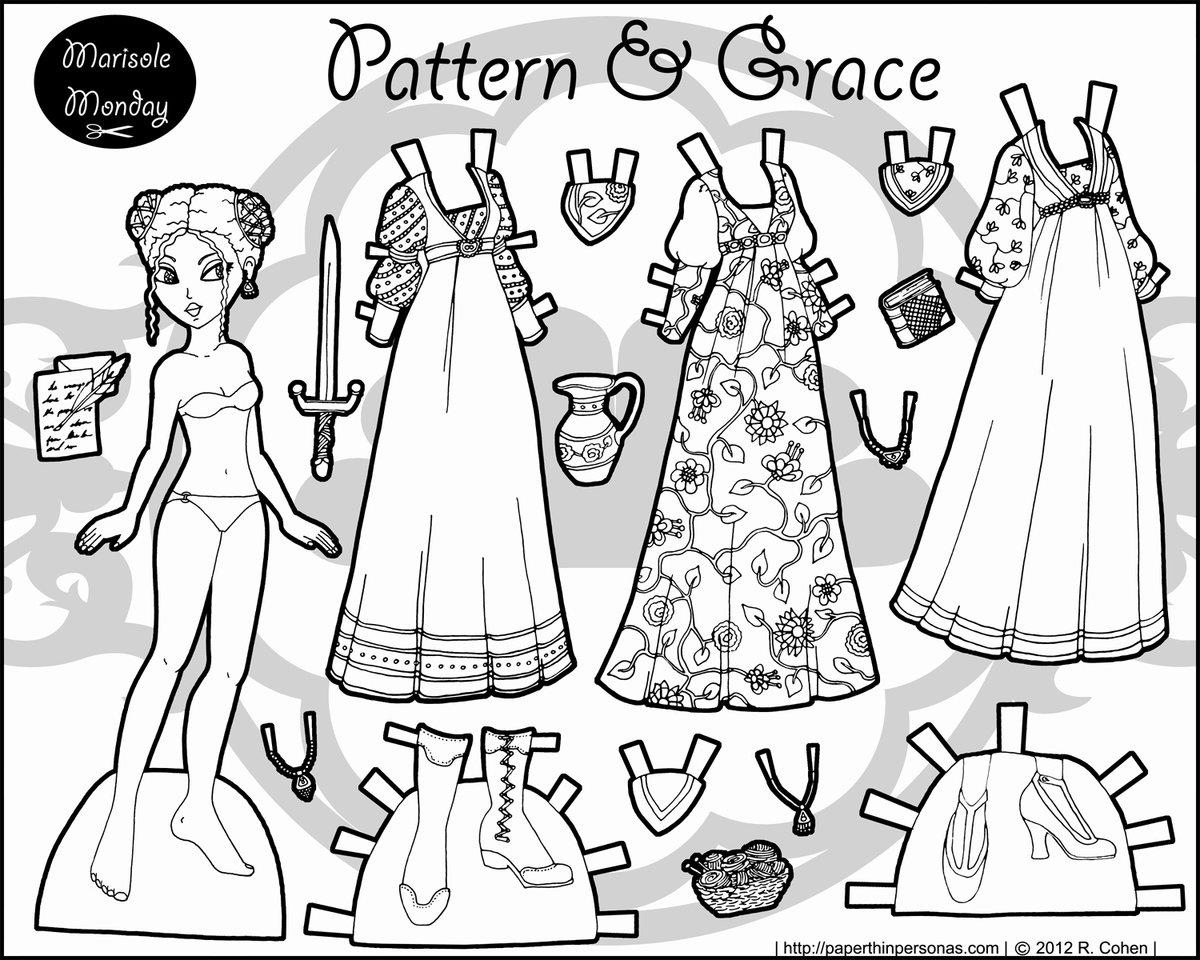 «Бумажная одежда для кукол раскраска бумажные куклы и ...
