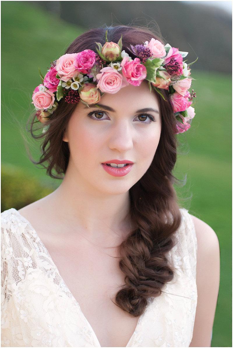 Картинки веночек на голове цветы