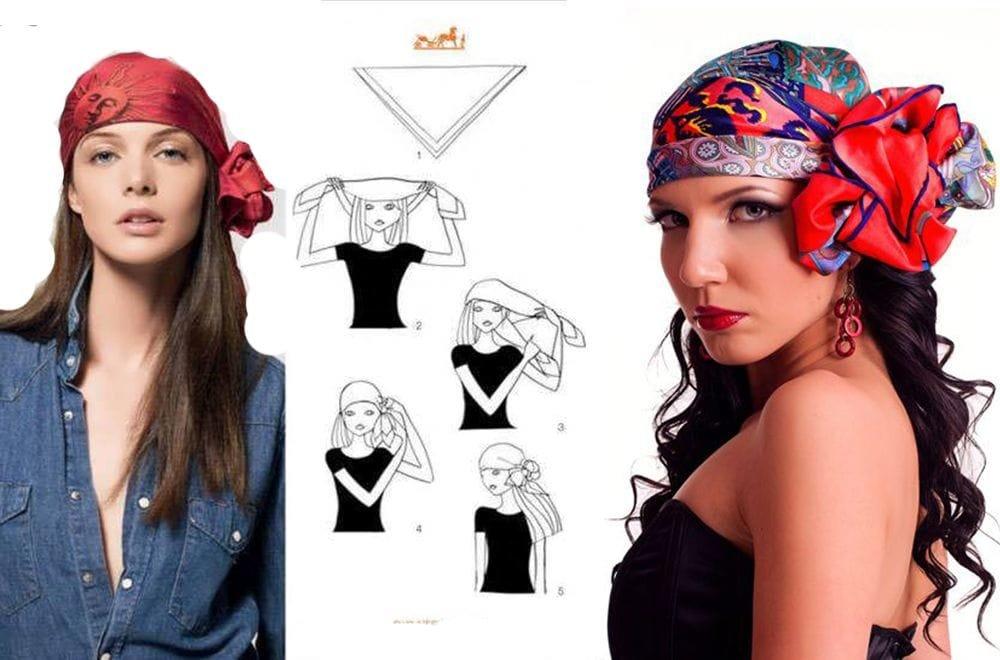 картинки платок на голове красиво завязан современных часах