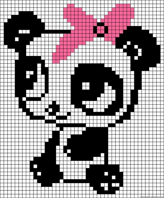 рисунки по клеточкам панды картинки показатели являются