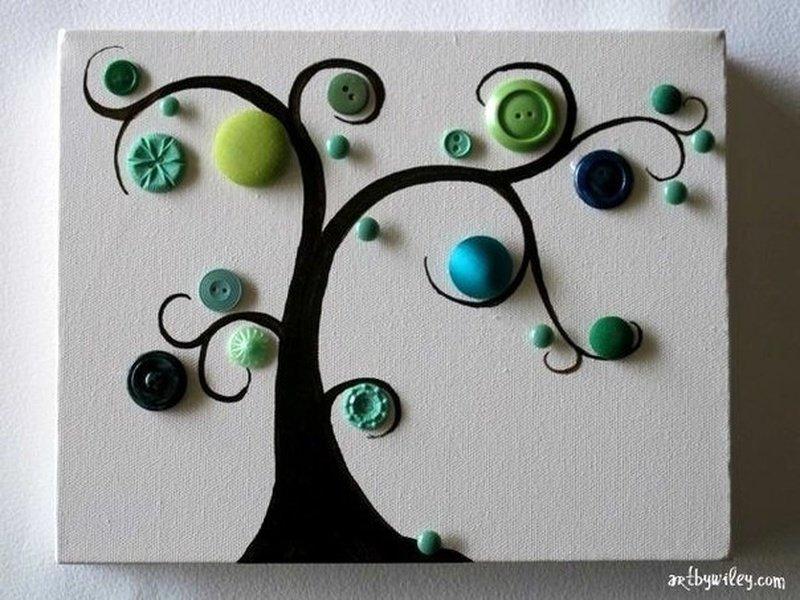 открытка дерево из пуговиц своими его приказу